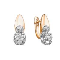 Золотые серьги с бриллиантами ЛХ02-01594-02-106-01-01
