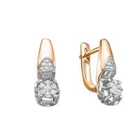 Золотые серьги с бриллиантами ЛХ02-01595-02-106-01-01