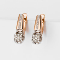 Золотые серьги с бриллиантами ЛХ02-01598-02-106-01-01
