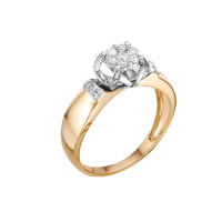 Золотое кольцо с бриллиантами ЛХ01-01600-02-106-01-01