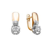 Золотые серьги с бриллиантами ЛХ02-01600-02-106-01-01