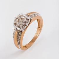 Золотое кольцо с бриллиантами ЛХ01-01601-02-106-01-01