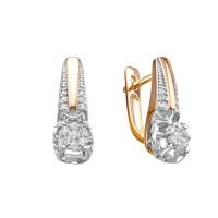 Золотые серьги с бриллиантами ЛХ02-01601-02-106-01-01
