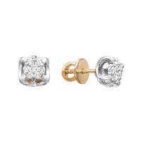 Золотые серьги гвоздики с бриллиантами ЛХ09-01449-02-001-01-01