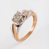 Золотое кольцо с бриллиантами ЛХ01-01450-02-001-01-01