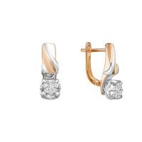 Золотые серьги с бриллиантами ЛХ02-01450-02-001-01-01