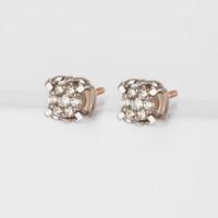 Золотые серьги гвоздики с бриллиантами ЛХ09-01450-02-001-01-01