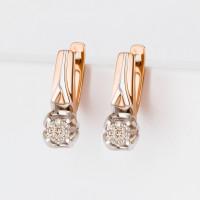 Золотые серьги с бриллиантами ЛХ02-01452-02-001-01-01