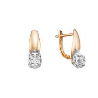 Золотые серьги с бриллиантами ЛХ02-01455-02-001-01-01