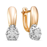 Золотые серьги с бриллиантами ЛХ02-01458-02-001-01-01