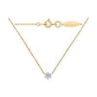 Золотое колье с бриллиантом ДИ1070049