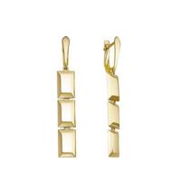 Золотые серьги подвесные ДП221432Л