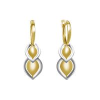 Золотые серьги подвесные ДП220957Л