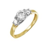 Золотое кольцо с фианитами ДП114481Л