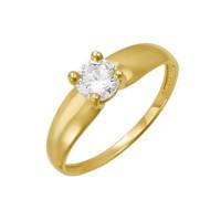 Золотое кольцо с фианитами ДП112948Л