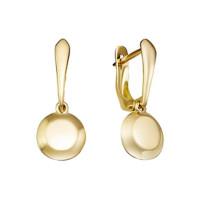 Золотые серьги подвесные ДП221519Л