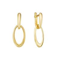 Золотые серьги подвесные ДП221848Л