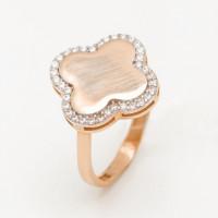 Золотое кольцо с фианитами ЖН16К50-МСР0156-РВ-ЦЗ