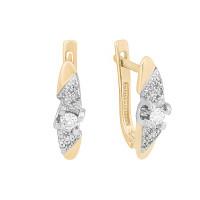 Золотые серьги с бриллиантами ЛХ02-01093-01-106-01-01