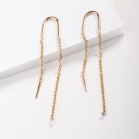 Золотые серьги протяжки с бриллиантами КТЗС91129
