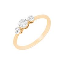 Золотое кольцо с бриллиантами ХС050101021