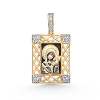 Золотая иконка с фианитами 3ВП1371631