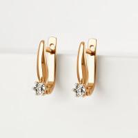 Золотые серьги с бриллиантами ЛХ02-01370-02-001-02-01