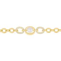Серебряный браслет с жемчугом и фианитами СЫ04БР0186ГП204