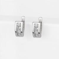 Серебряные серьги детские с фианитами 2ИС120838