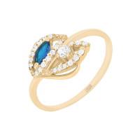 Серебряное кольцо с алпанитами и фианитами ПЮ252334сп