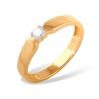 Золотое кольцо с бриллиантом ЮПК1314093