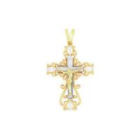Золотой крест с фианитами РЫ3000155Ж