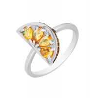 Серебряное кольцо с фианитами ВПК67КЛ