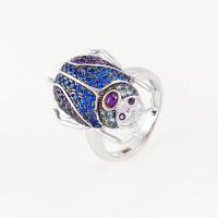 Серебряное кольцо с фианитами ВПК97КЛ