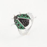 Серебряное кольцо с фианитами ВПК193КЛ