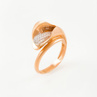 Золотое кольцо с фианитами ЖН16К50-МСР0155-РВ-ЦЗ