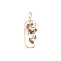Золотая подвеска с аметистами и бриллиантами ЛХ03-01210-01-035-01-02