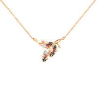 Золотое колье с бриллиантами и рубинами ЛХ06-01207-01-011-01-02