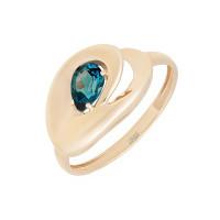 Золотое кольцо с топазом ЮПК10411976тл