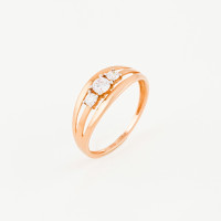 Золотое кольцо с фианитами ЛФР01-З-59746-З