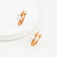 Золотые серьги с фианитами ЛФЕ01-З-59855-З