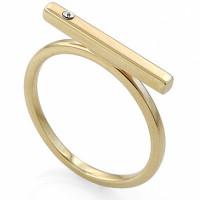 Золотое кольцо с фианитами ЛД0101010023139