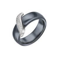 Серебряное кольцо с керамикой и фианитами СЫ01СР0809б-130