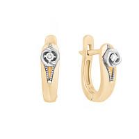 Золотые серьги с бриллиантами ЮЗ2-11-0818-101