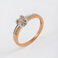 Золотое кольцо с бриллиантами ЛХ01-01088-02-106-01-01