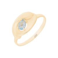 Золотое кольцо с топазом ЮПК13411976тг