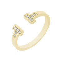 Золотое кольцо с фианитами ЖНТДУ290016-У
