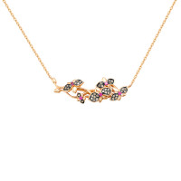 Золотое колье с бриллиантами и рубинами гт ЛХ06-01210-01-036-01-05
