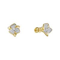 Золотые серьги гвоздики с бриллиантами ЛХ09-01218-05-001-01-01