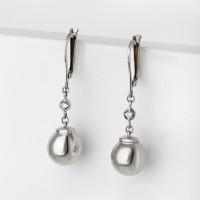 Серебряные серьги подвесные с фианитами 9ДСШ0071
